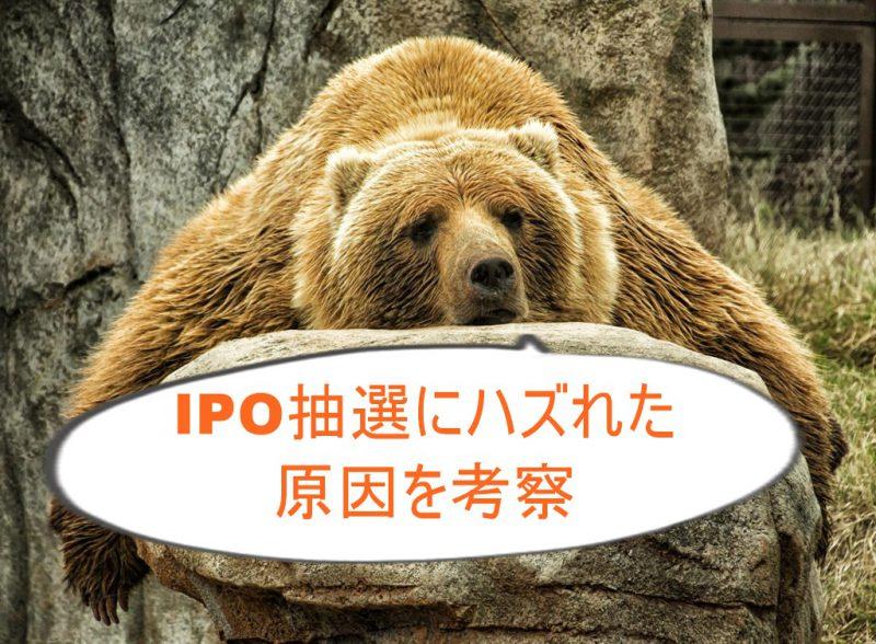 IPO投資の抽選にハズれた理由を考察。本気でやらないと当たらない?