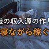 【寝ながら稼ぐ】無職の収入源の作り方【治験は無職と相性が良い】